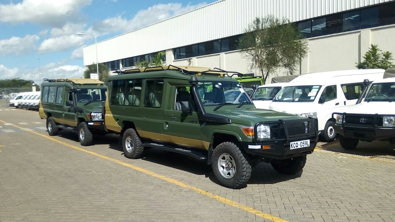 saafo safaris- fleet of vehicles